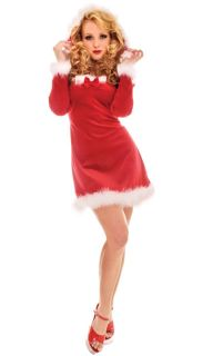 Mrs Claus Santa Womens Halloween Christmas Costume L