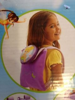 "New Disney Fairies Tinkerbell Blanket 30"" x 43"" and Toddler Backpack 8 5 x 10"""
