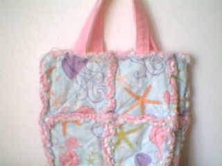 Toddler Little Girl Rag Quilt Purse Tote Beach Bag