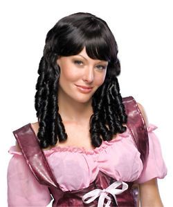 Wigs Black Curly Wig Long Curls Baby Doll Ringlet Hair Wig Accessory Accessories