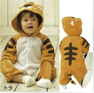 New Infant Baby Boys Girls Outfit One Piece Bodysuit Cartoon Fleece Costume
