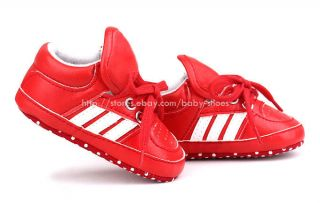 Toddler Baby Girl Boy Red Soft Sole Crib Shoes Sneaker Newborn to 18 Months