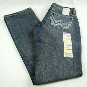 Womens Wrangler Q Baby WRQ20WL Boot Cut Mid Rise Stretch Jeans Size 9 10 x 34