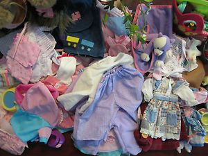 100 Pcs Huge Lot Baby Doll Clothes Shoes Accessories Dogs Dishes