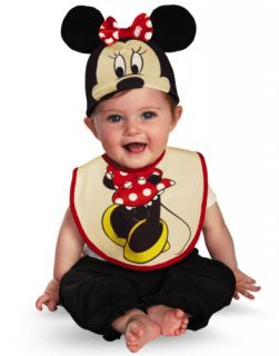 Disney Minnie Mouse Baby Bib Hat Boys Halloween Costume Infant 0 6 Mths