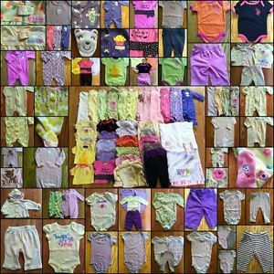 Huge Baby Girl Clothes Lot 0 3 Months Fall Winter Carters