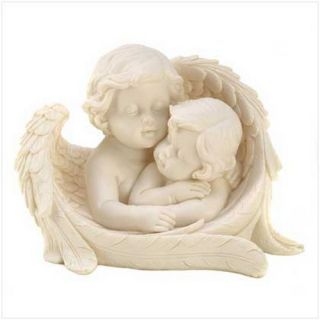 Angelic Sisters Figurine Cherub Angel Art Statue New