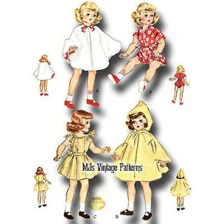 "Vtg Doll Dress Clothes Pattern 14"" Betsy McCall Toni 15"" Revlon Sweet Sue"