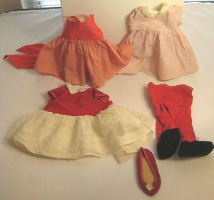 Lot Vintage 1960's Chatty Cathy Doll Clothes Dresses Shoe Baby Leotards Outfits