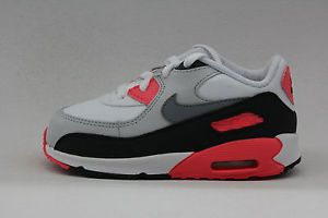 Nike Air Max 90 White Cool Grey Neutral Grey Infrared Toddler Baby Size Sneakers