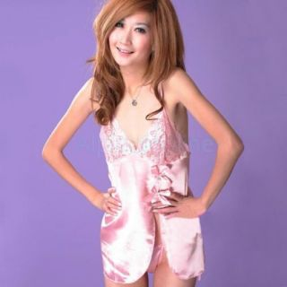 Sexy Women's Cross Style Sleepwear Strap Lace Lingerie Dress Up Babydoll Thong