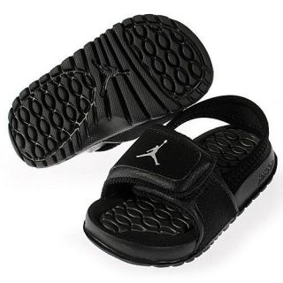4788a032a3f4b7 487574 001 Jordan Hydro 2 TD Baby Toddler Sandals Slippers Slides Black Grey