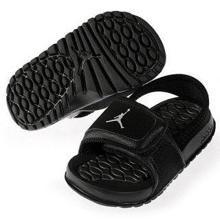 93a679e07ad127 487574 001 Jordan Hydro 2 TD Baby Toddler Sandals Slippers Slides Black Grey