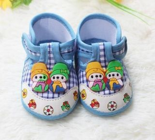 Infant Princess Prince Baby Shoe Little Cartoon Boy Girl Blue Soft Bottom Shoes