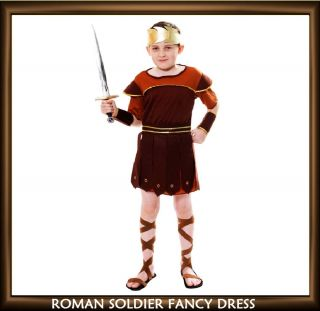 Childrens Roman Soldier Greek Gladiator Fancy Dress Costume Like Hercules Outfit