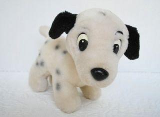 "Walt Disney World Vintage Plush 101 Dalmatians Lucky Puppy Dog 7"" White Stuffed"