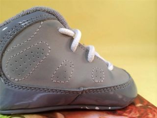 89869e02389b26 ... 2012 Nike Jordan IX 9 Baby Infant Crib Boys Shoes 2c Cool Grey White  Med Grey ...
