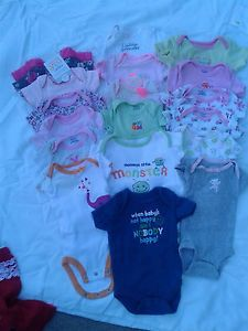 Size Newborn and 0 3 Month Baby Girl Clothes Big Lot of Gently Used and Unused