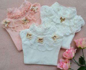 New Cute Baby Girl Kids Children Princess Tops T Shirt Shirt Clothes Long Sleeve