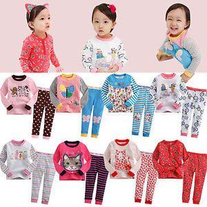 """2pcs Vaenait Baby Toddler Kids' Girls Clothes Sleepwear Pajama """"Girlish Set"""""""