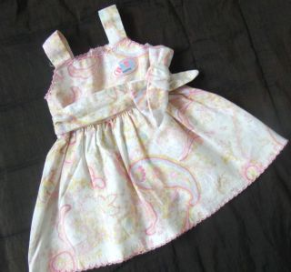 "Baby Born Beautiful Paisley Pattern Dress with Bow Zapf 16 17"" Doll Clothes"