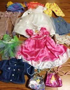 Baby Doll Clothes Clothing Lot Accessories Fits Bitty Baby Disney Princesses