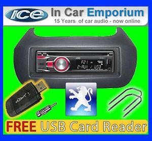 Peugeot Bipper CD  Player Car Stereo JVC KD R421 Aux USB in Radio Kit 4975769385964