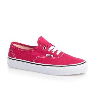 Vans Authentic Girls Trainers Shoes Bright Rose True White