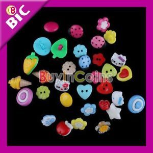 100 Cute Baby Clothes Cartoon Color Mixed Sewing Buttons Scrapbooking Decoration