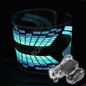 90x25cm Music Rhythm Sound Activated Equalizer LED Light Lamp Car Sticker 12V