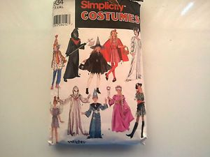 Simplicity Halloween Costumes Sewing Pattern s M L Boys and Girls Sizes 7 to 14