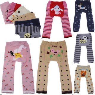 Hot Girls Boys Unisex Kids Baby Toddler Cartoon Leggings Tights Trousers Pants