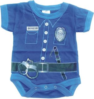 Infant Baby One Piece Police Law Enforcement Officer Outfit Super Cute Jumper