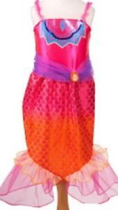 New Barbie A Mermaid Tale 2 Pink Orange Mermaid Costume Dress Up Size 4 6