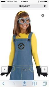 Minion Despicable Me 2 Girls Size Small 4 6 Halloween Costume Female Child