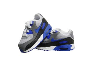 Nike Air Max 90 TD Black Blue Gray White Leather New with Box Infant Sizes
