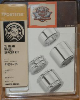 Harley Davidson XL Chrome Rear Wheel Spacers Part 41653 05