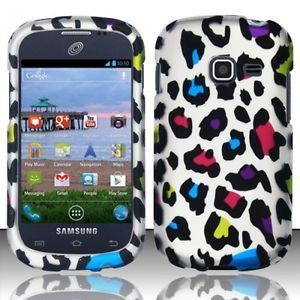Accessory for Samsung Galaxy Centura Discover Hard Cover Case Funky Leopard