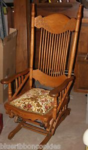 Antique Wisconsin Chair Company Glider Rocker Rocking Chair