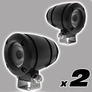"2 Pcs Black LED Mini Alu Spot Lights 2"" Lamp Fog Head Off Road MX Motorcycle"