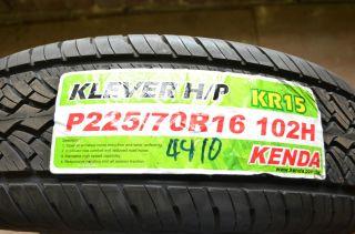1 New 225 70 16 Kenda Klever H P Blem Tire