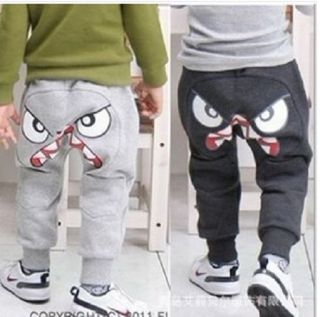 Cartoon Cute Pants Trousers Sportwear Kids Boys Baby Casual Clothing Sz 2 7Years