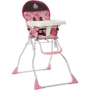 Disney Minnie Mouse Pink Folding Baby High Chair Brand New