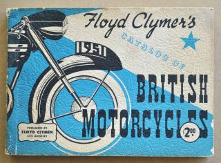 1951 Motorcycle Brochure Book BSA Norton Triumph Ariel Vincent AJS Matchless