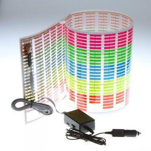 Fashion Car Sticker Music Rhythm LED Flash Light Lamp Sound Activated Equalizer