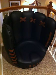 ... 2009 All Star Game Budweiser Beer Full Size Leather Baseball Glove Chair  ...