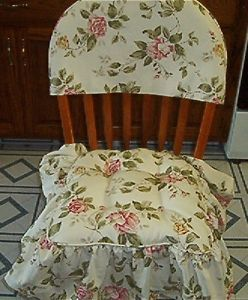 Shabby Roses Cottage French Country Chair Cushion