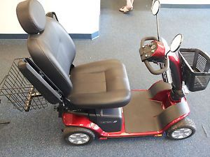 Pride Mobility Victory 10 4 Wheel Electric Senior Scooter Chair Rear Basket