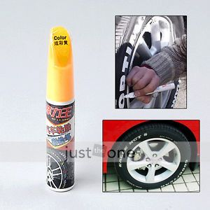 Motorcycle Auto Car Tire Wheel Surface Decor Paint Pattern Marker Yellow Color