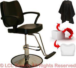 Black Hydraulic Barber Styling Chair Cover Hair Cutting Beauty Salon Equipment